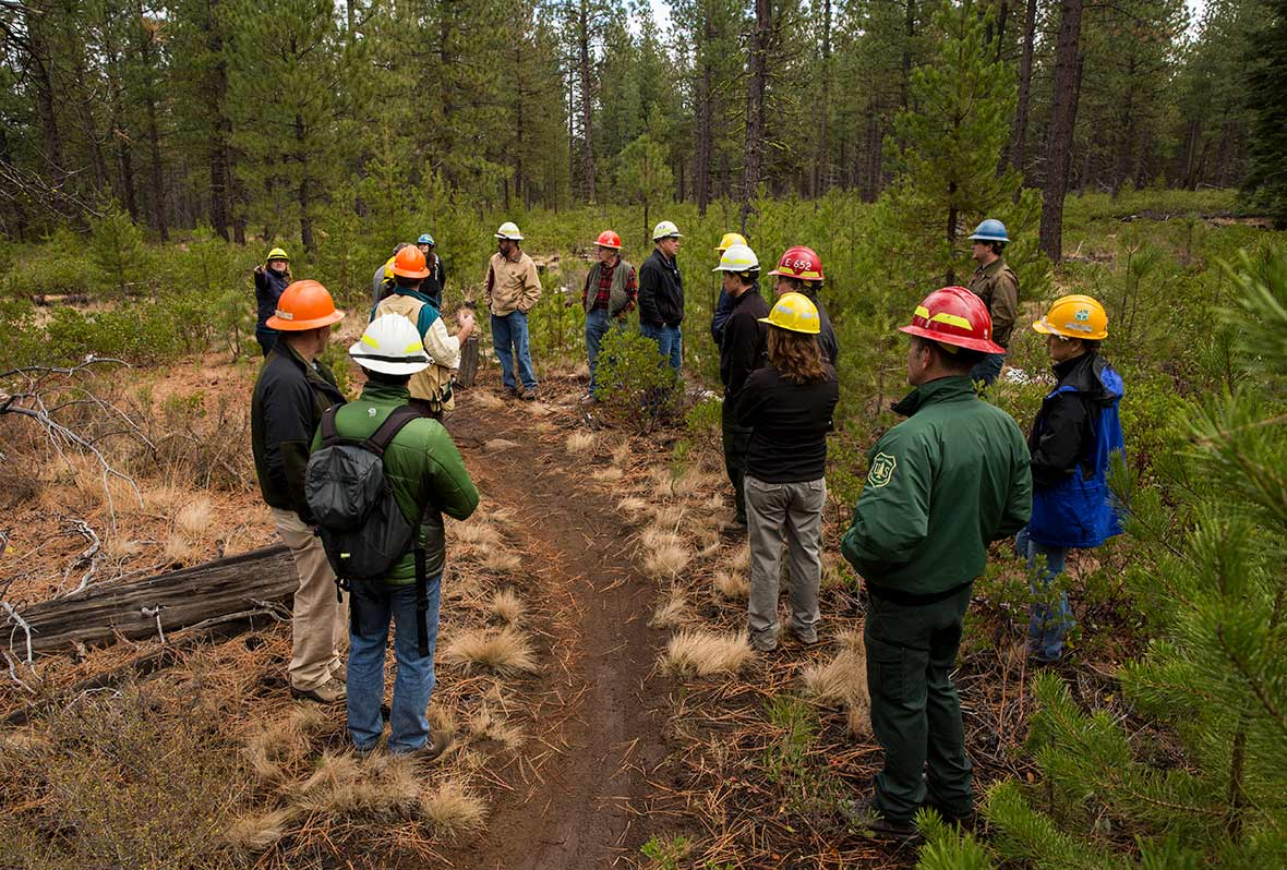 ochoco forest field tour OFRC meeting